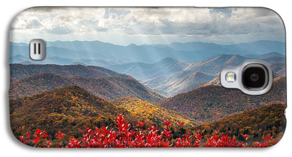 Autumn Landscape Galaxy S4 Cases - Blue Ridge Parkway Fall Foliage - The Light Galaxy S4 Case by Dave Allen