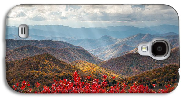 Sunbeams Galaxy S4 Cases - Blue Ridge Parkway Fall Foliage - The Light Galaxy S4 Case by Dave Allen