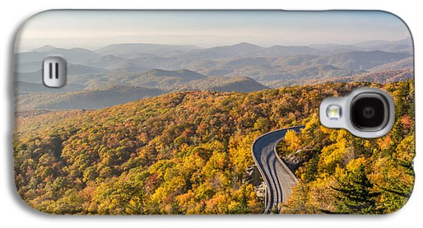 Scenic Drive Galaxy S4 Cases - Blue Ridge Parkway in Peak Autumn Colors Galaxy S4 Case by Pierre Leclerc Photography