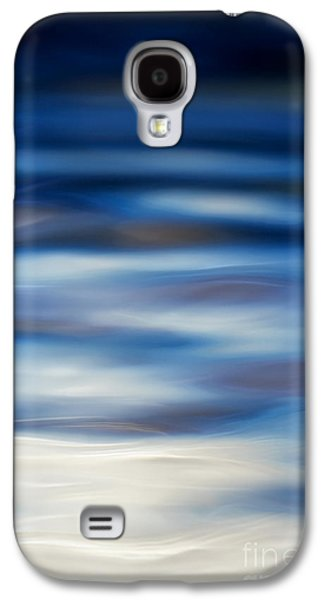 Blue Abstracts Galaxy S4 Cases - Blue Ripple Galaxy S4 Case by Tim Gainey