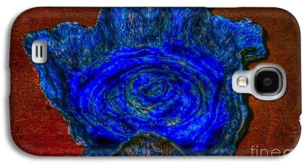 Ceramic Ceramics Galaxy S4 Cases - Blue Rose Dish Galaxy S4 Case by Joan-Violet Stretch