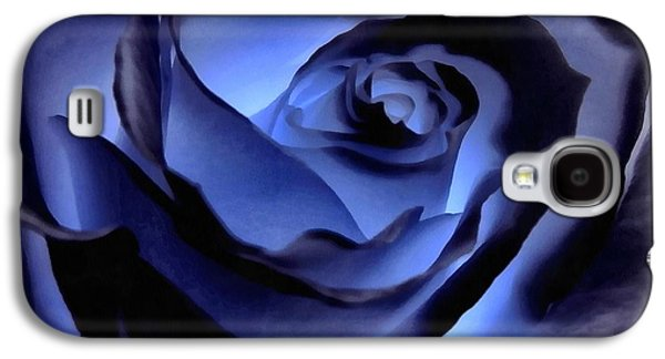 Rosaceae Galaxy S4 Cases - Twilight Blue Rose  Galaxy S4 Case by Janine Riley