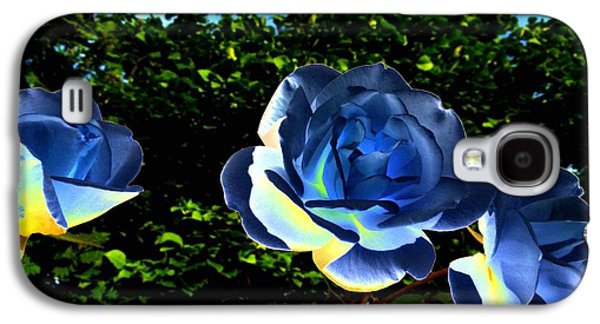 Floribunda Galaxy S4 Cases - Blue Roses Galaxy S4 Case by Will Borden