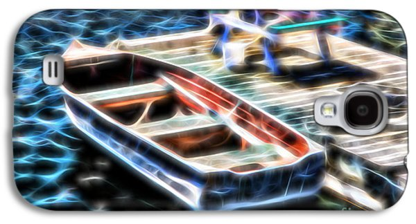 Recently Sold -  - Abstract Digital Photographs Galaxy S4 Cases - Blue Rowboat Digital Galaxy S4 Case by Timothy Hacker