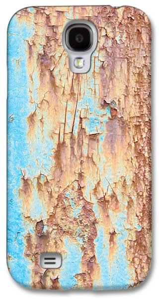 Messy Photographs Galaxy S4 Cases - Blue rusty metal Galaxy S4 Case by Tom Gowanlock