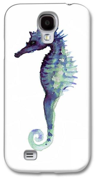 Blue Seahorse Galaxy S4 Case by Joanna Szmerdt