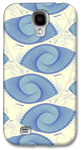 Sand Galaxy S4 Cases - Blue Shells Galaxy S4 Case by Anastasiya Malakhova