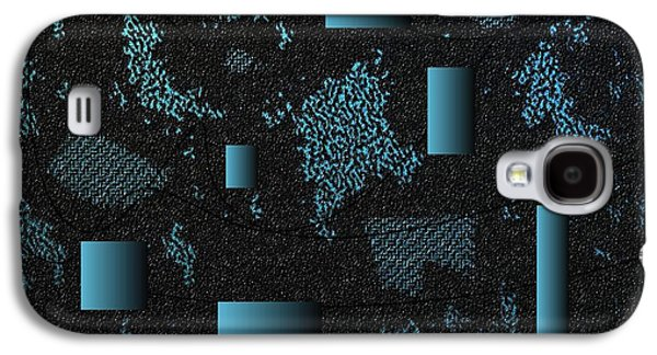 Nature Abstracts Tapestries - Textiles Galaxy S4 Cases - Blue Shells Galaxy S4 Case by Claire Masters