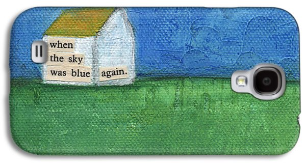 Texture Mixed Media Galaxy S4 Cases - Blue Sky Again Galaxy S4 Case by Linda Woods