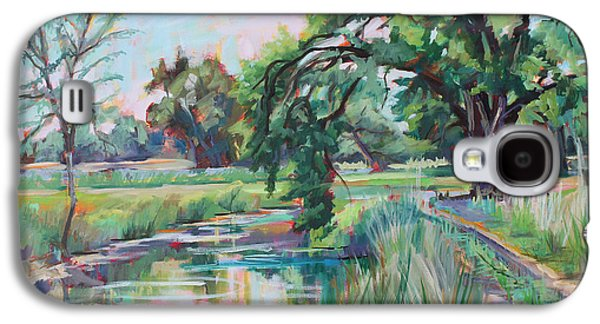 Poudre Galaxy S4 Cases - Blue Sky River  plein air Galaxy S4 Case by Marie Massey