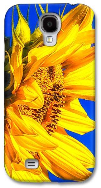 Dreamscape Galaxy S4 Cases - Blue Sky Sunshine Sunflower Galaxy S4 Case by Bob Orsillo