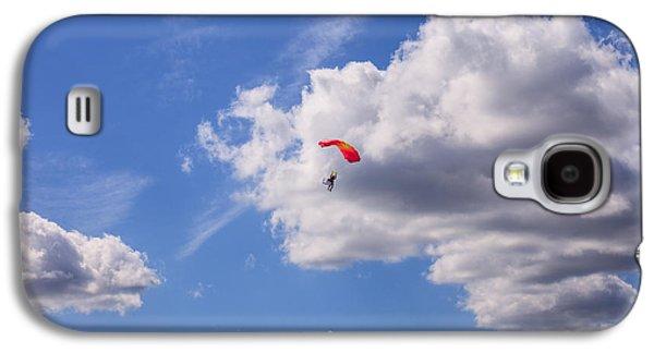 Coasting Galaxy S4 Cases - Blue Sky White Cloud Day Galaxy S4 Case by Carol VanDyke