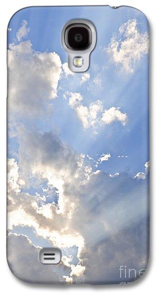 Light Galaxy S4 Cases - Blue sky with sun rays Galaxy S4 Case by Elena Elisseeva