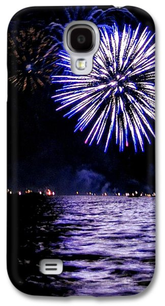 4th July Galaxy S4 Cases - Blue Sparkle Galaxy S4 Case by Cindi Snow
