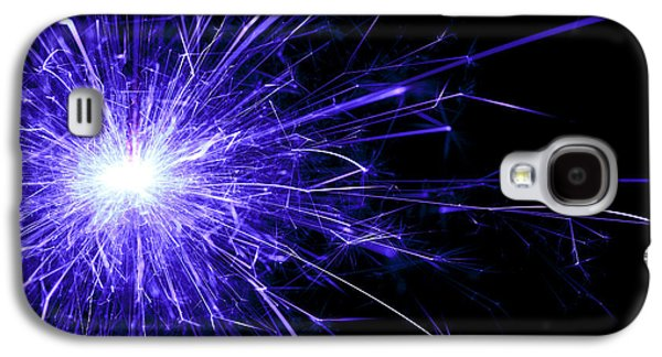 Sparkling Galaxy S4 Cases - Blue Sparkle Galaxy S4 Case by Samuel Whitton