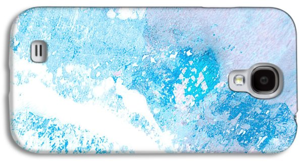 Abstract Digital Mixed Media Galaxy S4 Cases - Blue Splash Galaxy S4 Case by Ann Powell