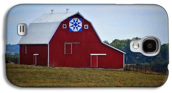Blue Star Quilt Barn Galaxy S4 Case by Cricket Hackmann