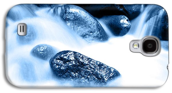 River Scenes Photographs Galaxy S4 Cases - Blue stream Galaxy S4 Case by Les Cunliffe