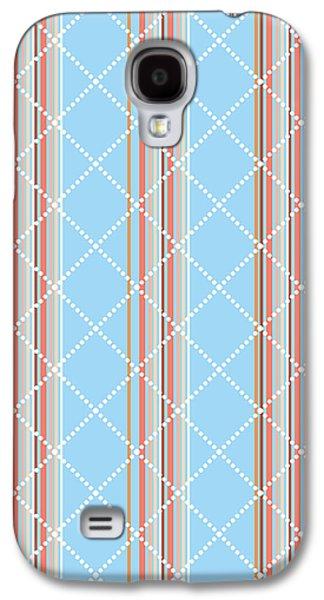 Blue Stripe Pattern Galaxy S4 Case by Christina Rollo