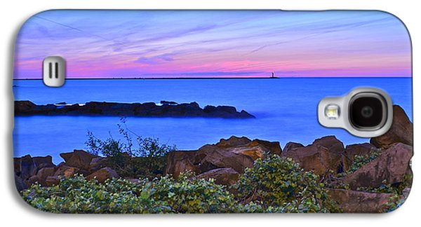 Surreal Landscape Galaxy S4 Cases - Blue Sunset Galaxy S4 Case by Frozen in Time Fine Art Photography