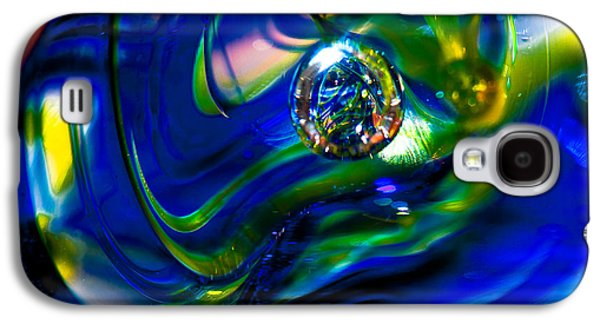 Glass Reflections Galaxy S4 Cases - Blue Swirls Galaxy S4 Case by David Patterson
