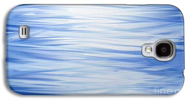 Abstract Digital Galaxy S4 Cases - Blue Swoops Horizontal Abstract Galaxy S4 Case by Andee Design