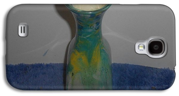 Still Life Glass Art Galaxy S4 Cases - Blue that Galaxy S4 Case by Carrie  Ray
