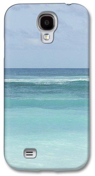 Ocean Photos Galaxy S4 Cases - Blue Turquoise Teal Beach Gradient Photo Art Print Galaxy S4 Case by Ocean Photos