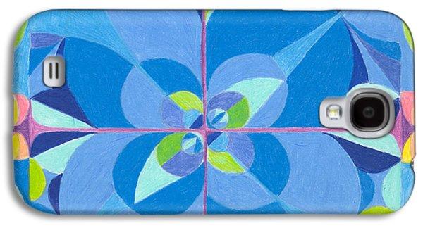 Kim Drawings Galaxy S4 Cases - Blue Unity Galaxy S4 Case by Kim Sy Ok