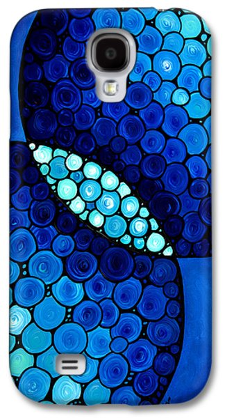 Unity Paintings Galaxy S4 Cases - Blue Unity Galaxy S4 Case by Sharon Cummings