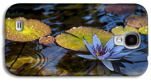 Blue Water Lily Pond Galaxy S4 Case by Brian Harig