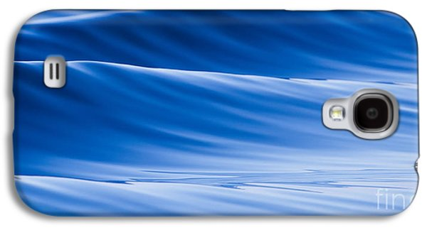 Blue Abstracts Photographs Galaxy S4 Cases - Blue Water Waves Abstract Galaxy S4 Case by Dustin K Ryan