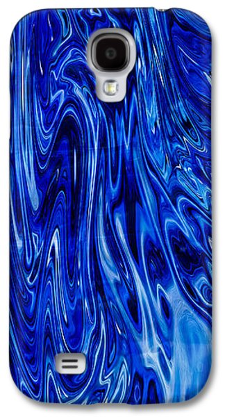 Abstract Digital Mixed Media Galaxy S4 Cases - Blue Waves of Beauty Galaxy S4 Case by Omaste Witkowski