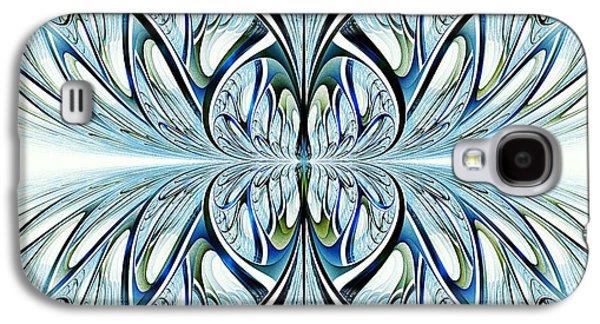 Symmetrical Galaxy S4 Cases - Blue Wings Galaxy S4 Case by Anastasiya Malakhova