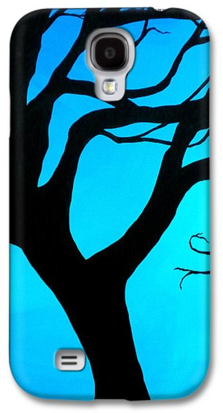 Gnarly Galaxy S4 Cases - Blue Winter Galaxy S4 Case by Debi Starr