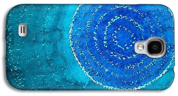 Unity Paintings Galaxy S4 Cases - Blue World original painting Galaxy S4 Case by Sol Luckman