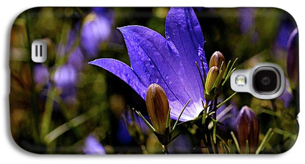 Botanical Galaxy S4 Cases - Bluebell Galaxy S4 Case by Rona Black