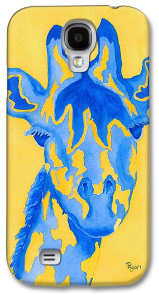 Two Colors Paintings Galaxy S4 Cases - Bluebelle Galaxy S4 Case by Rhonda Leonard