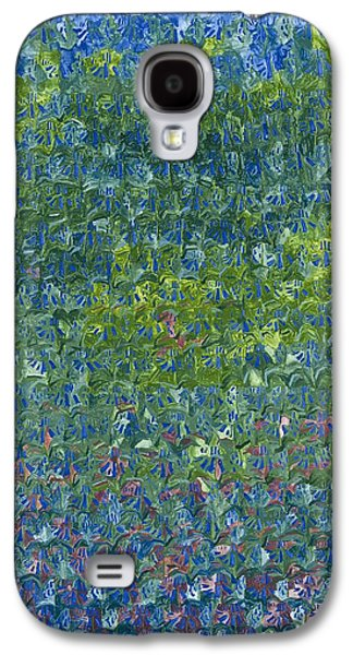 Spring Bulbs Paintings Galaxy S4 Cases - Bluebells Galaxy S4 Case by Leigh Glover
