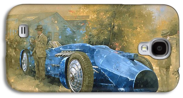 Race Galaxy S4 Cases - Bluebird At Brooklands Oil On Canvas Galaxy S4 Case by Peter Miller