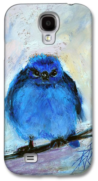 Blue Pastels Galaxy S4 Cases - Bluebird of Unhappiness Galaxy S4 Case by Billie Colson