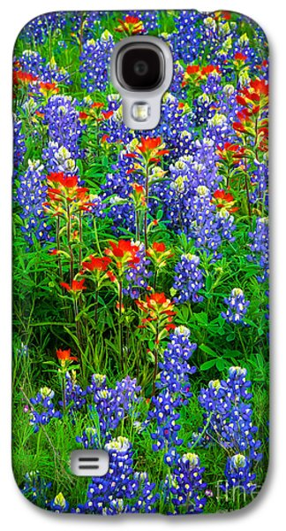Harmonious Galaxy S4 Cases - Bluebonnet Patch Galaxy S4 Case by Inge Johnsson