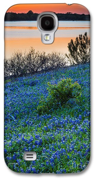 Mounds Galaxy S4 Cases - Bluebonnet Shoreline Galaxy S4 Case by Inge Johnsson