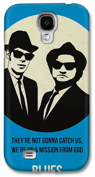 Tv Galaxy S4 Cases - Blues Brothers Poster Galaxy S4 Case by Naxart Studio
