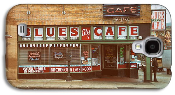 Tennessee Landmark Galaxy S4 Cases - Blues City Cafe on Beale Street Memphis Galaxy S4 Case by Mary Lee Dereske