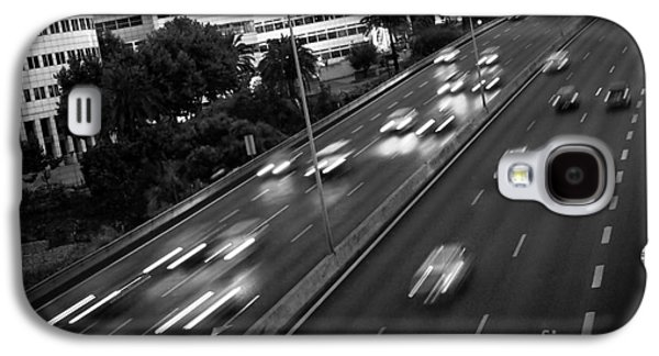 Asphalt Galaxy S4 Cases - Blurred Cars Galaxy S4 Case by Carlos Caetano