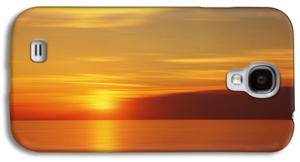 Nature Abstract Galaxy S4 Cases - Blurred golden sunset Galaxy S4 Case by Jaroslav Frank