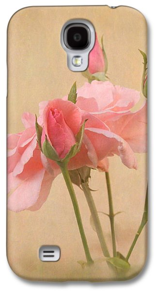 Blushing Pink Galaxy S4 Case by Angie Vogel