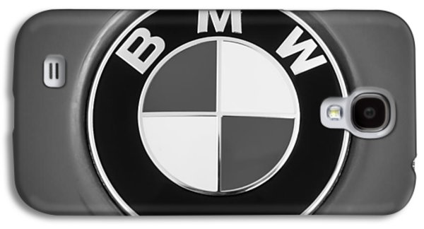 Photography Prints Galaxy S4 Cases - BMW Emblem -0460bw Galaxy S4 Case by Jill Reger