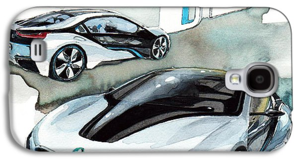 Concept Paintings Galaxy S4 Cases - BMW i8 Galaxy S4 Case by Yoshiharu Miyakawa